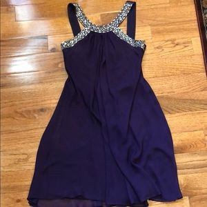Purple Sparkly Strap Dress
